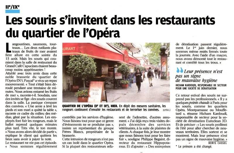 Stoprat - Édition papier du Parisien du du Mercredi 18 Août 2010